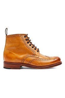 GRENSON Sharp brogue boots