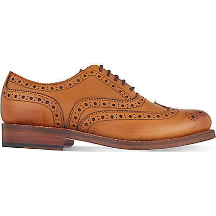 GRENSON Stanley Oxford shoes (Tan