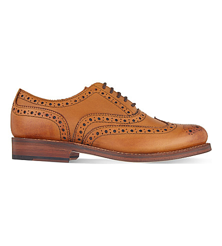GRENSON Stanley Oxford leather brogues (Tan