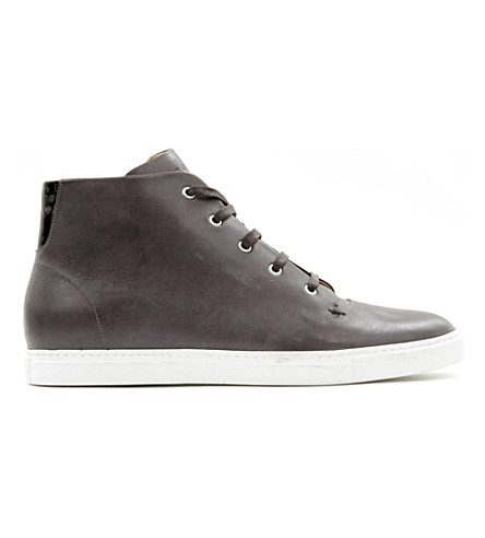 KURT GEIGER LONDON Booth leather high tops (Grey