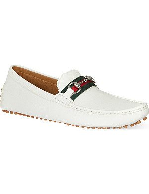 GUCCI Damo horsebit driver shoes