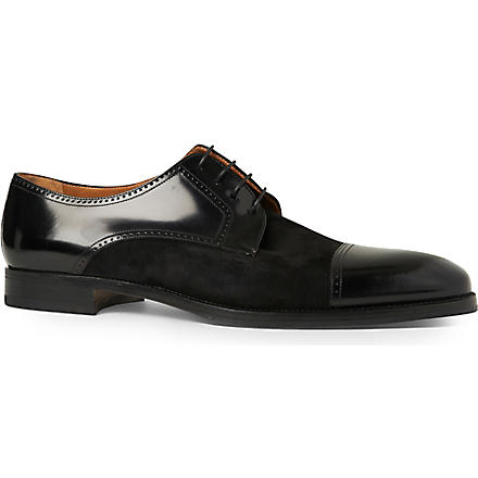 STEMAR Mixed toecap Derby shoes (Black