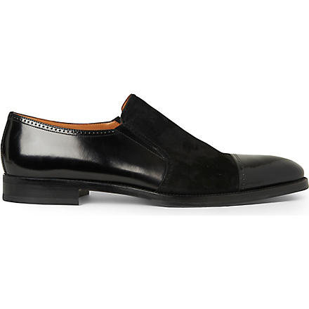 STEMAR Mixed toecap loafers (Black