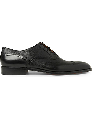 STEMAR Mixed wingcap Oxford shoes