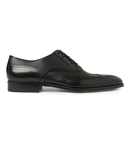 STEMAR Mixed wingcap Oxford shoes (Black