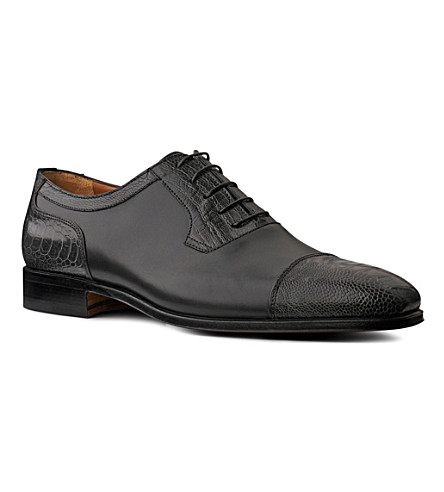 STEMAR Ostrich Oxford shoes (Grey