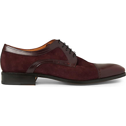 STEMAR Chisel contrast-panel Derby shoes (Wine