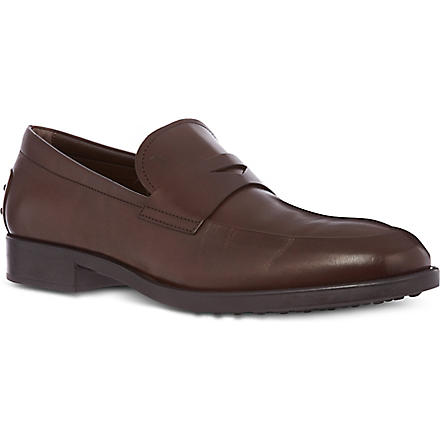 TODS Gomma formale leather loafers (Brown