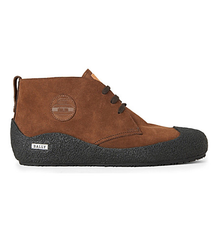 BALLY Snowly Chukka boots (Dark+brown