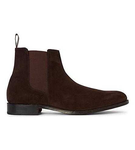 GRENSON Declan Chelsea boots (Dark+brown