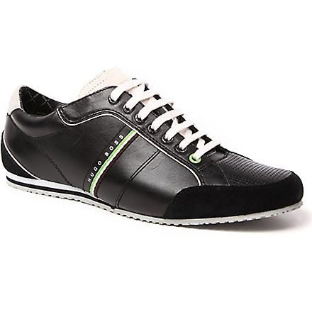 HUGO BOSS Victoire leather trainers (Black