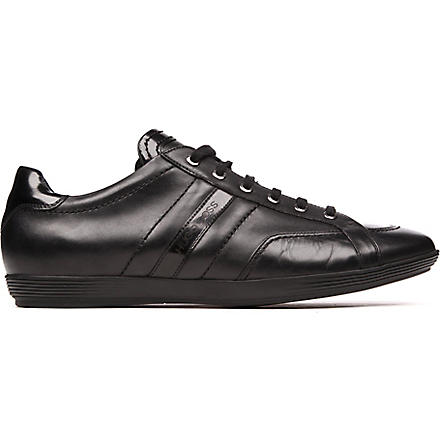 HUGO BOSS Webio leather trainers (Black