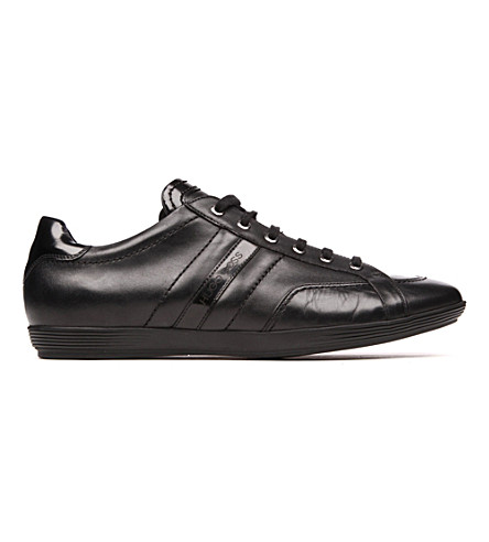 BOSS Webio leather trainers (Black