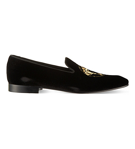VERSACE Medusa slippers (Black