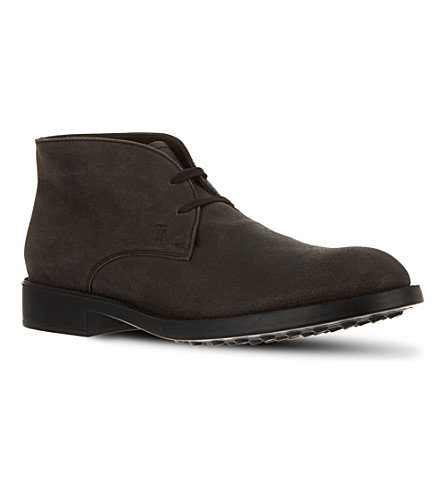 TODS Leather Lace-up Ankle Boots (Brown
