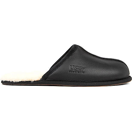 UGG Scuff leather slippers (Black