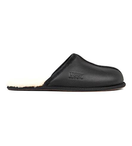 leather Scuff leather slippers UGG Scuff UGG Black w544FIqx