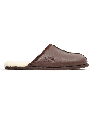 UGG Scuff leather slippers