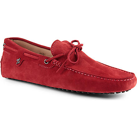 TODS 122 Ferrari tie driving shoes (Red