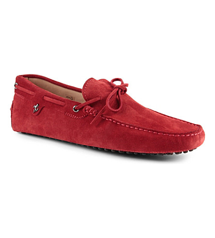 TODS Gommino heaven driving shoes in suede (Red