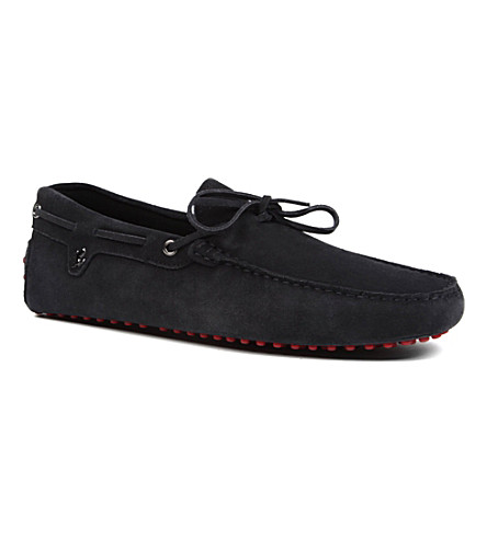 TODS Tod's Ferrari Driving Shoes in Suede (Navy