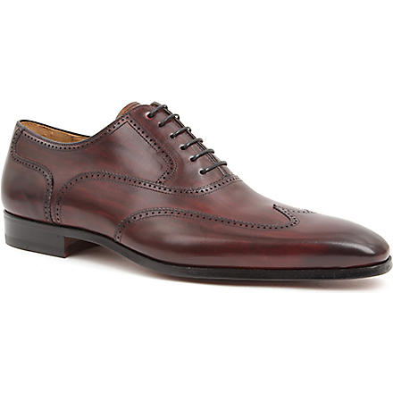 MAGNANNI Chisel toe Oxford brogues (Wine