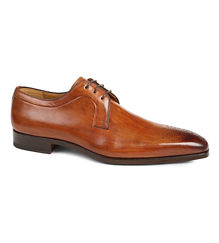 MAGNANNI Punch-toe Derby shoes (Tan