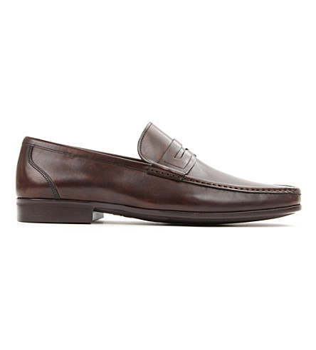 MAGNANNI Leather penny loafers (Brown