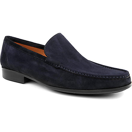 MAGNANNI Leather slippers (Navy