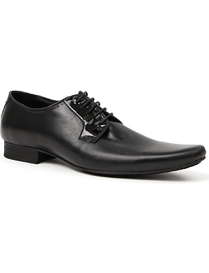H BY HUDSON Larkin patent-trim Derby shoes