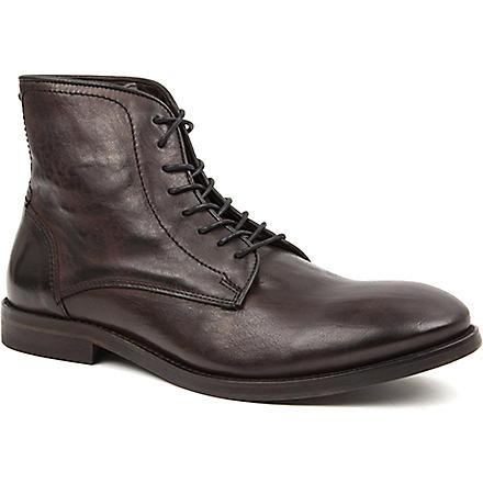 H BY HUDSON Smyth leather boots (Black