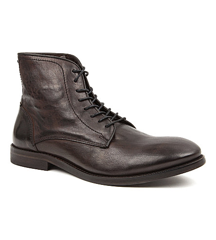 H BY HUDSON Smyth leather boots (Black