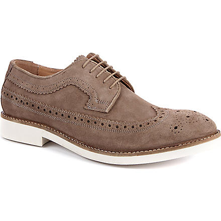 H BY HUDSON Crawford micro brogues (Taupe