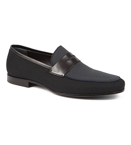 ALBERTO GUARDIANI Penny loafers (Black