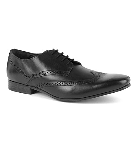 KG KURT GEIGER Kennedy leather Oxford brogues (Black