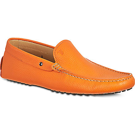 TODS Grained leather driving shoes (Orange