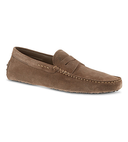 TODS Gommino driving shoes in suede (Grey/light