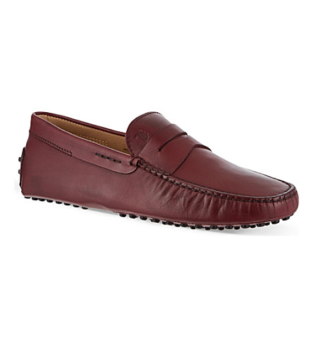 TODS Gommino driving shoes in leather (Wine