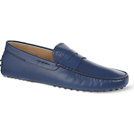 TODS Leather penny driving shoes (Navy