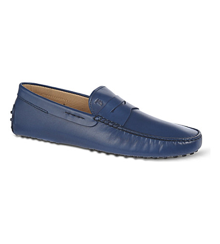 TODS Gommino Driving Shoes in Leather (Navy