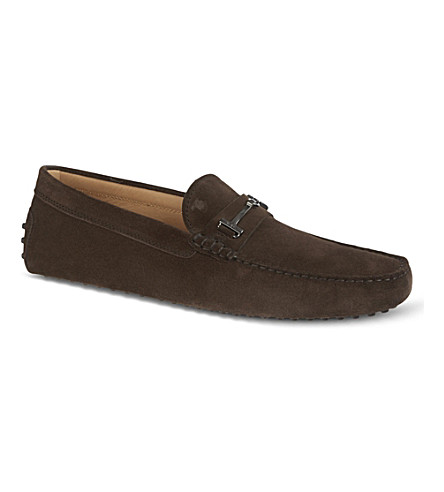 TODS Gommino heaven driving shoes in suede (Brown