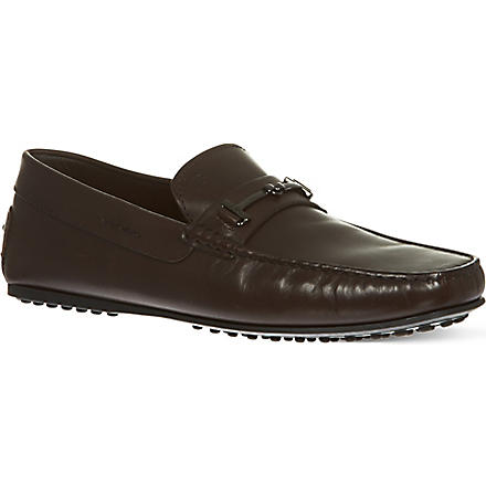 TODS City Gomm leather driving shoes (Brown