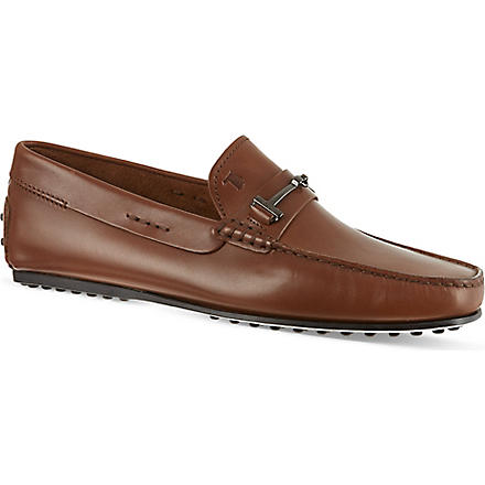 TODS Leather Loafers (Tan