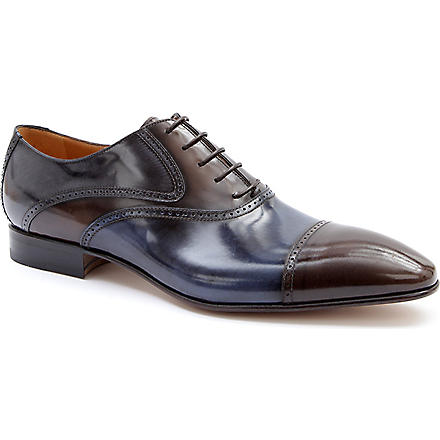 STEMAR Two-tone Oxford shoes (Dk.brn com