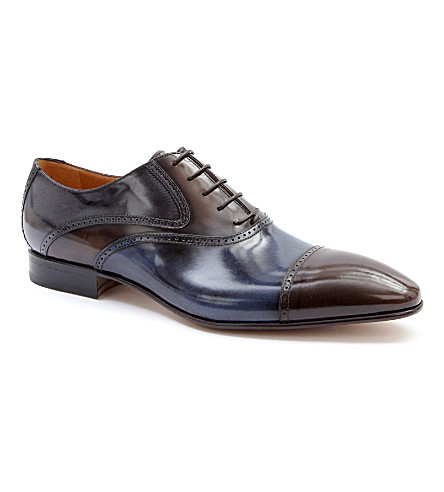 STEMAR Two-tone Oxford shoes (Dk.brn com