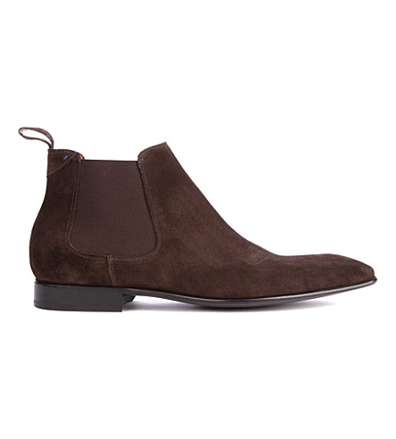 PAUL SMITH Falconer Chelsea boots (Dark+brown