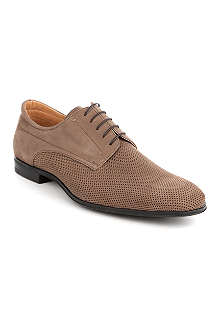 STEMAR Leather perforated Derby shoes