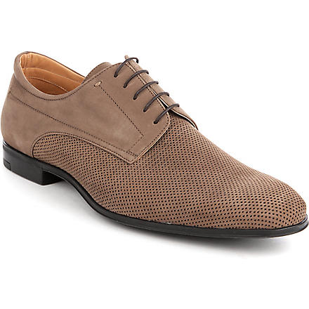 STEMAR Leather perforated Derby shoes (Brown