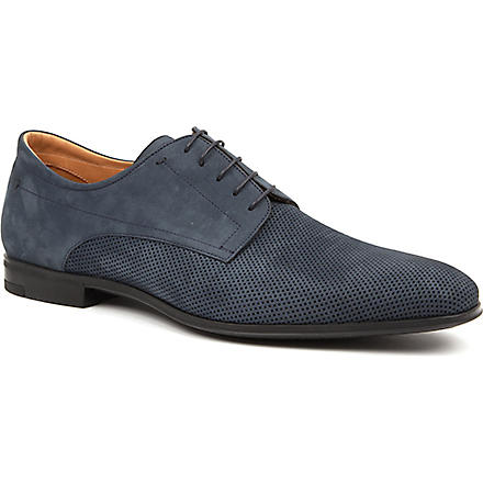 STEMAR Perforated leather Derby shoes (Blue