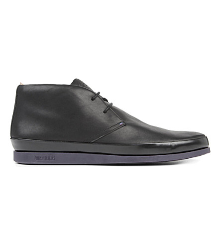 PAUL SMITH Loomis chukka boots (Black